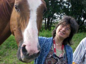 Susanne mit Pferd Miranda
