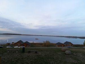 Gröberner See in der Abenddämmerung