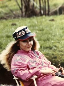 Barbara Edelmann im Trainingsanzug