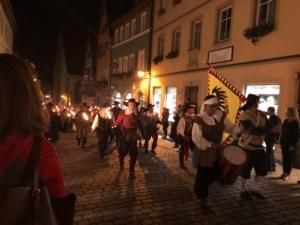 Fackelzug in Rothenburg